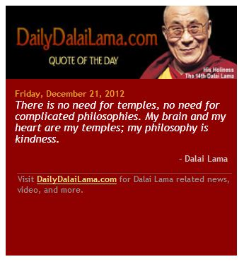 The DalaiLama kindness