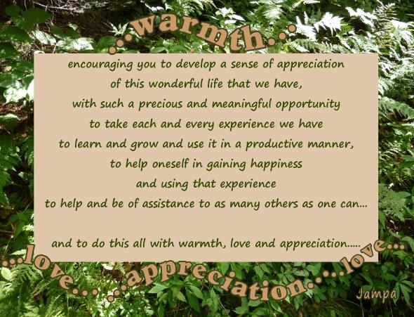 wamth love appreciation encouraging