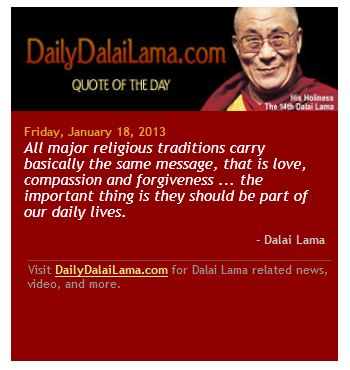 The Dalai Lama love compassion forgiveness