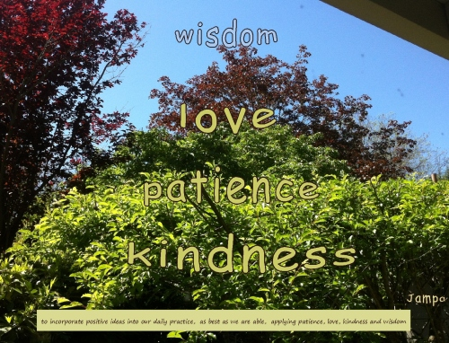patience, love, kindness and wisdom ...deeper levels of trees