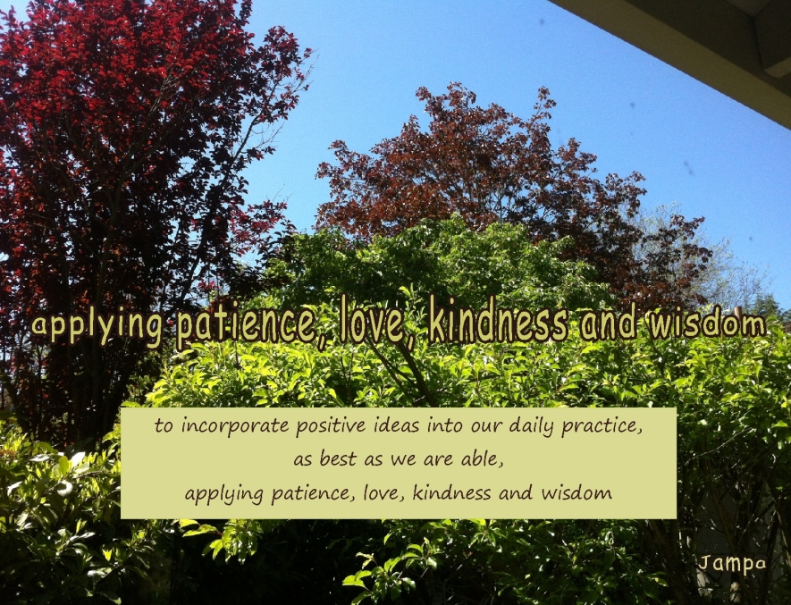 applying patience love kindness and wisdom in our daily lives