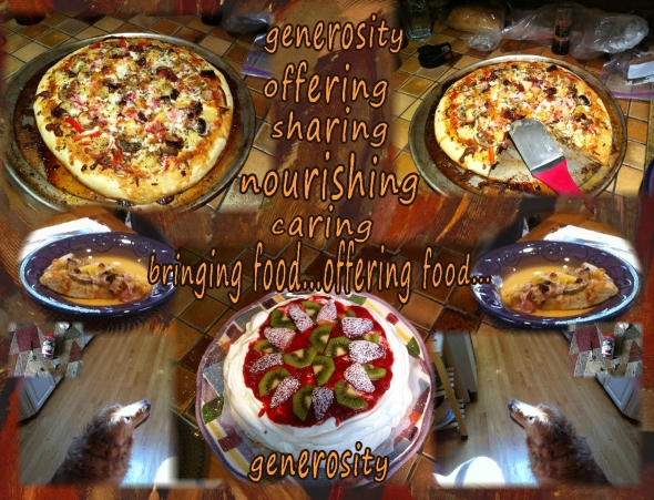 generosity....offering food to others