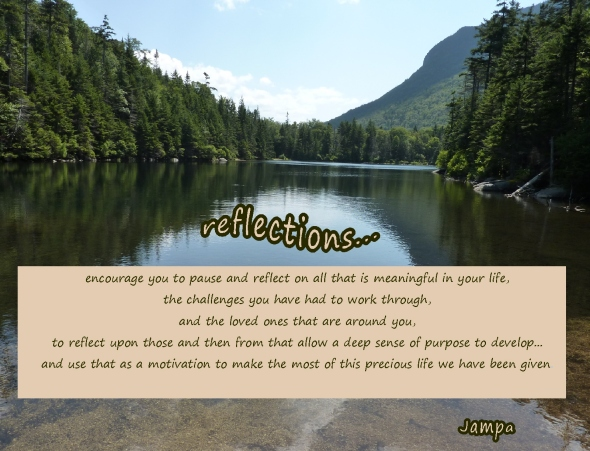 pause, reflect and allow a deep sense of purpose to develop