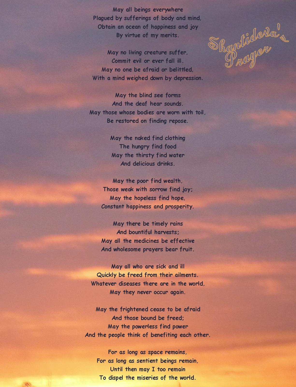 Shantideva\'s Prayer | Reflections