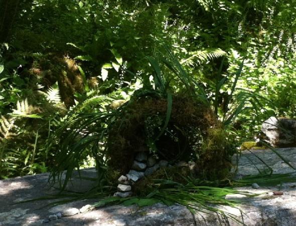 Sacred healing well, diorama