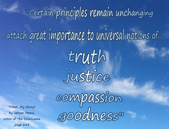 compassion goodness truth justice