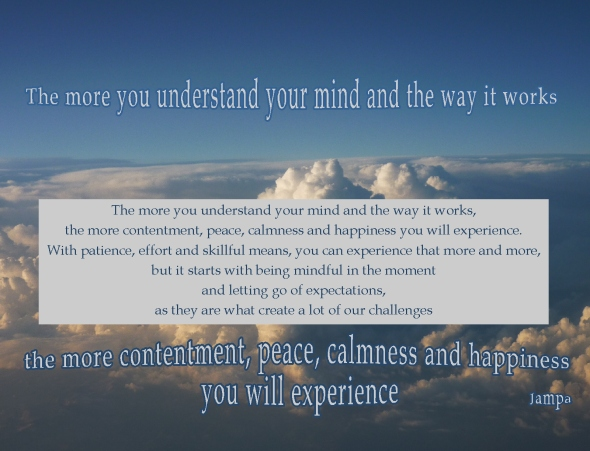 mindfulness leading to contentment calmness happiness