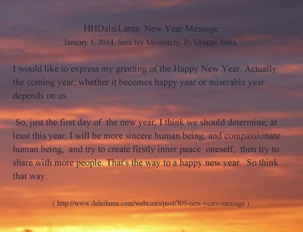DalaiLama New Year Wish 2014